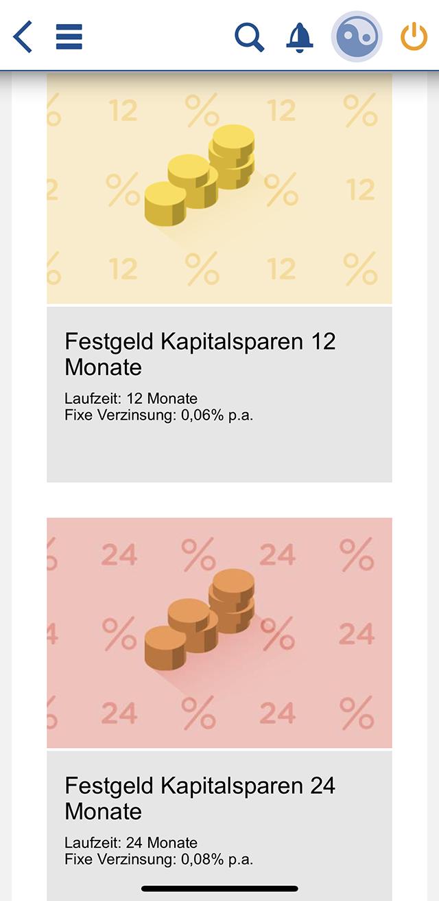 Наглядный пример процентных ставок повкладам вVolksbank: 0,08%!
