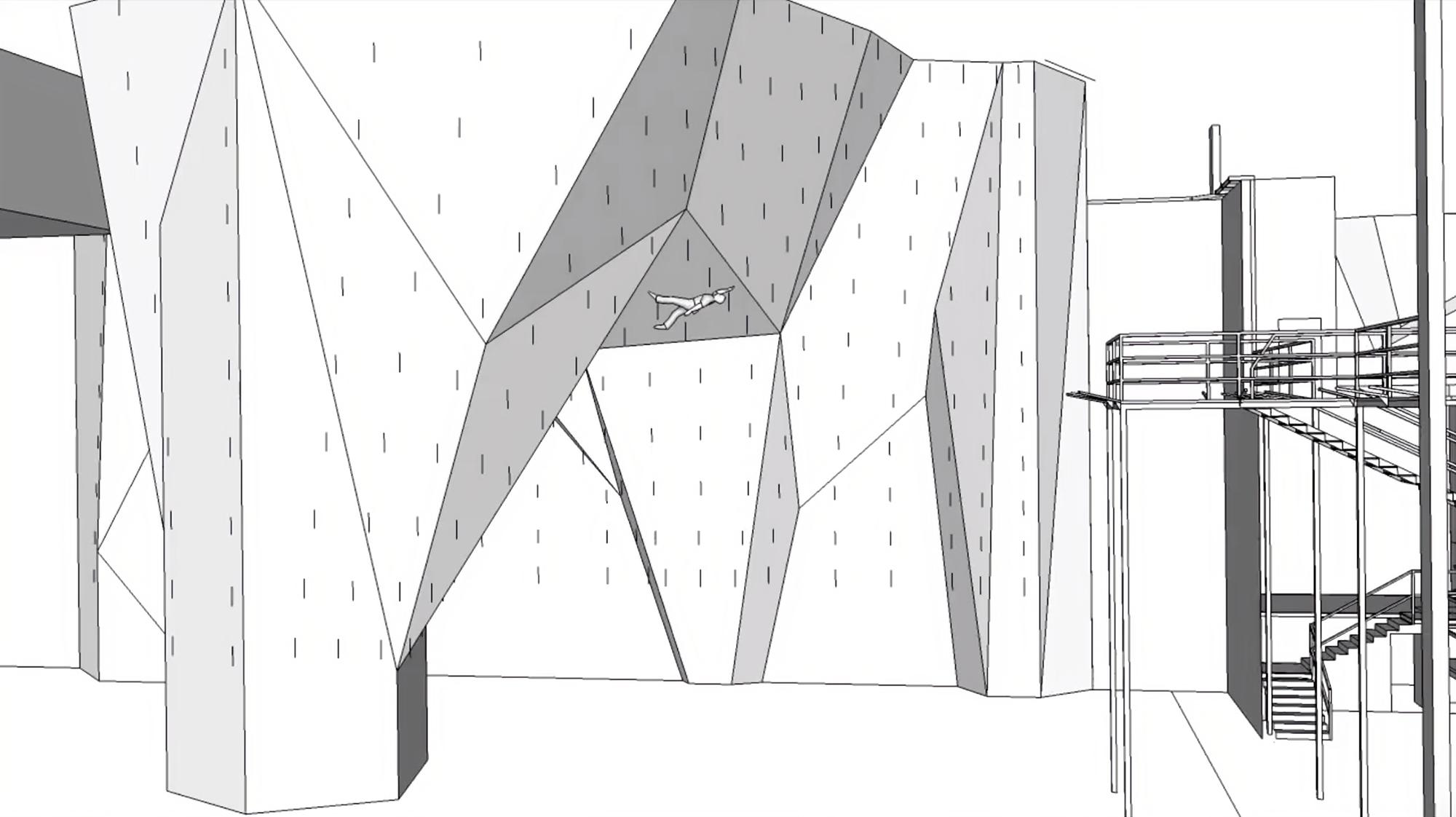 3Д-визуализацию и анимацию проекта скалодрома скалолазы разработали сами. Подрядчикам заплатили 600тысяч рублей только за просчет металлических конструкций. Автор: Дмитрий Степанов