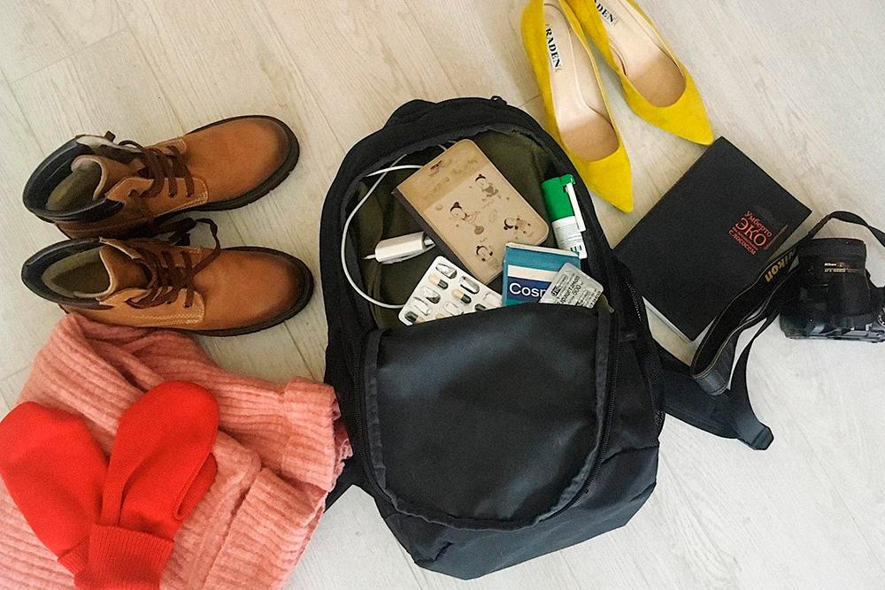 Чтобы не переплачивать за багаж в «Северном ветре», книгу, фотоаппарат и туфли для новогодней вечеринки, пришлось оставить дома, а все остальное упаковывать в небольшой рюкзак