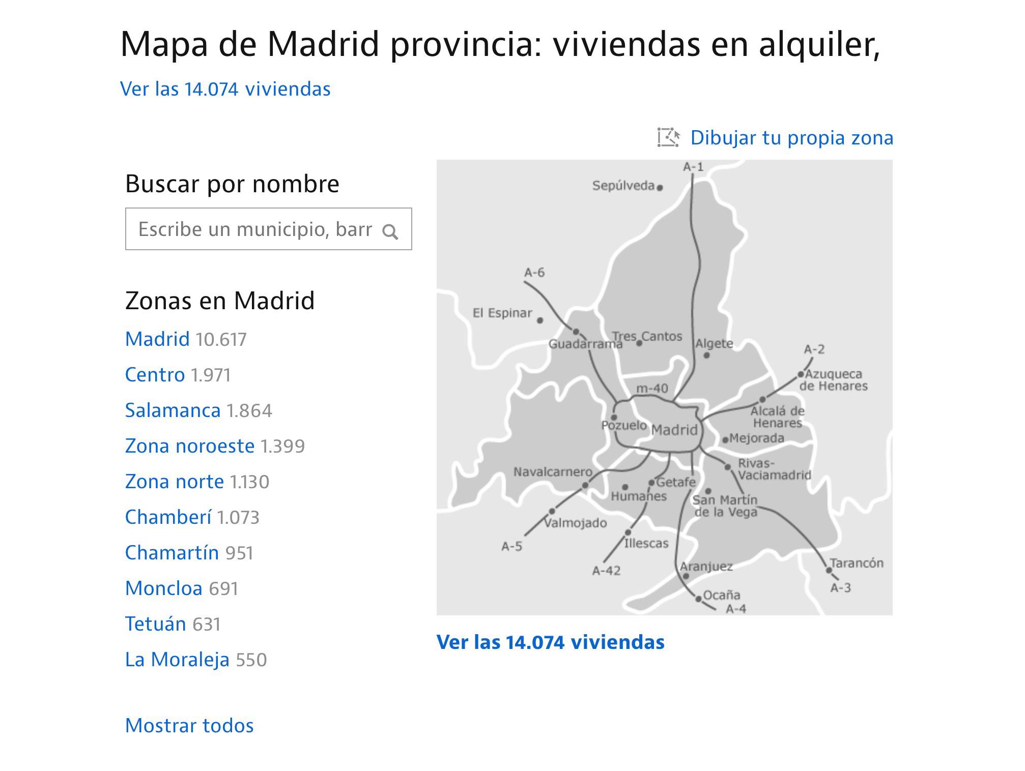 Сайт Idealista — самая удобная платформа для поиска жилья: можно искать по списку или по карте города