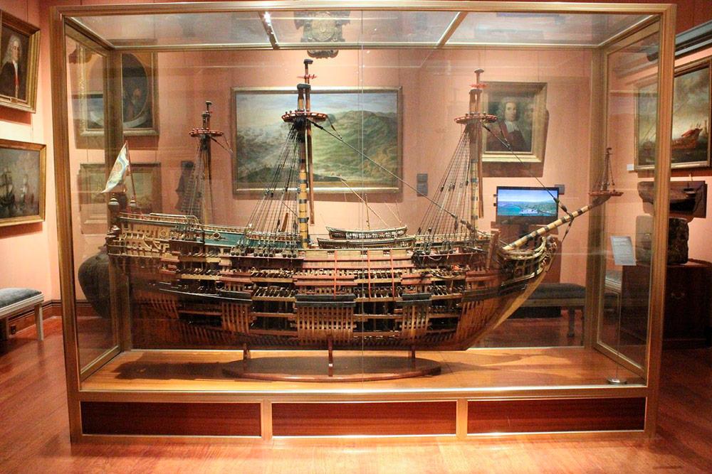 Модель корабля в Морском музее