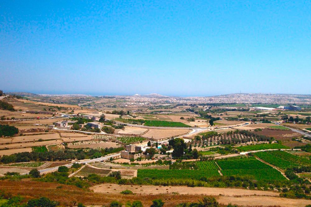 Пейзажи на Мальте в основном деревенские