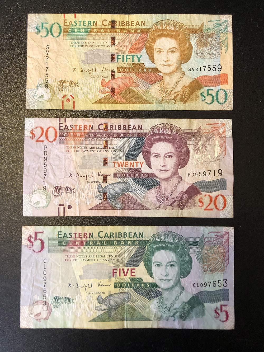 Так выглядят восточнокарибские доллары