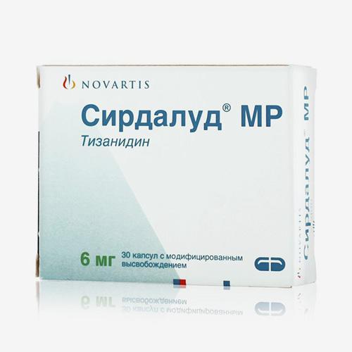 «Сирдалуд» в капсулах выпускают в дозировке 6 мг