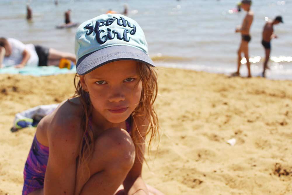 Моя дочь на берегу Ярового озера