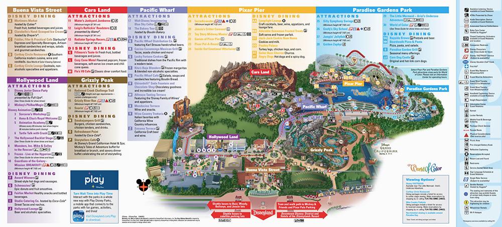 Карта Adventure Park. Диснейленд — это целый мир, длякоторого явно недостаточно одного дня. За сутки не успеете ничего посмотреть — советую приезжать на 2—3 дня