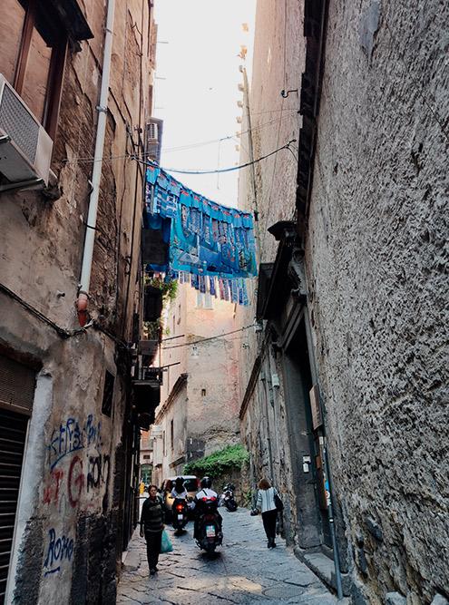 Улочки исторического центра Неаполя