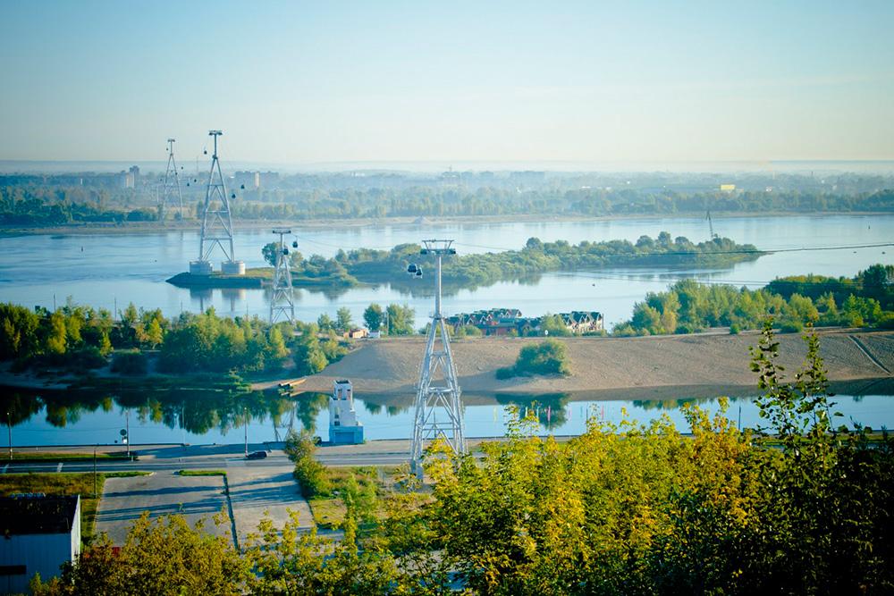 Канатную дорогу построили, чтобы разгрузить транспортный поток на мосту между Нижним Новгородом и Бором. Фото: Нижегородские канатные дороги