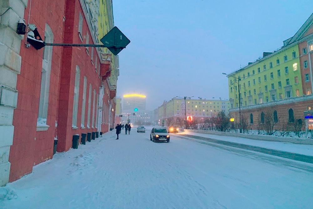 Ленинский проспект зимой