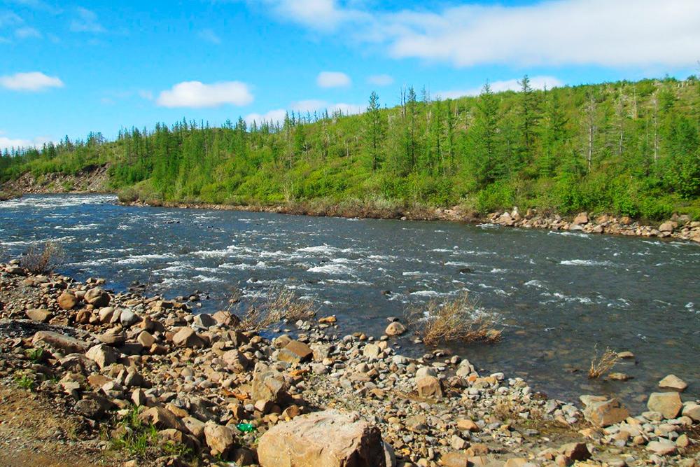 Каньон реки Болгохтох вокрестностях Дудинки