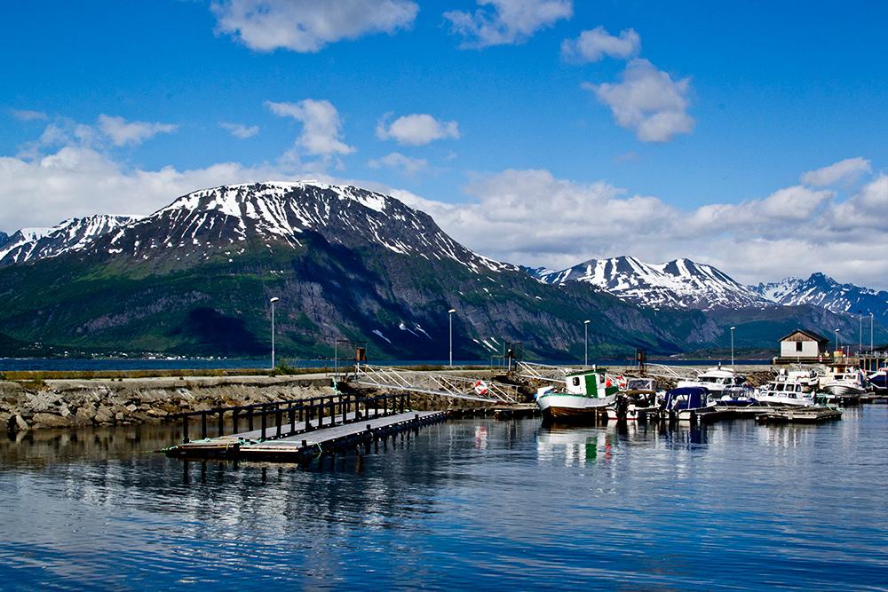 Типичный пейзаж в Норвегии