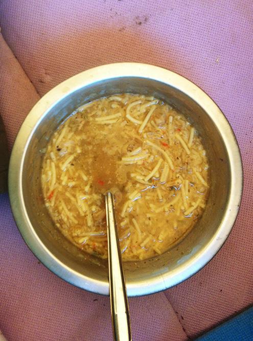 Суп с вермишелью, который я сварил в Норвегии