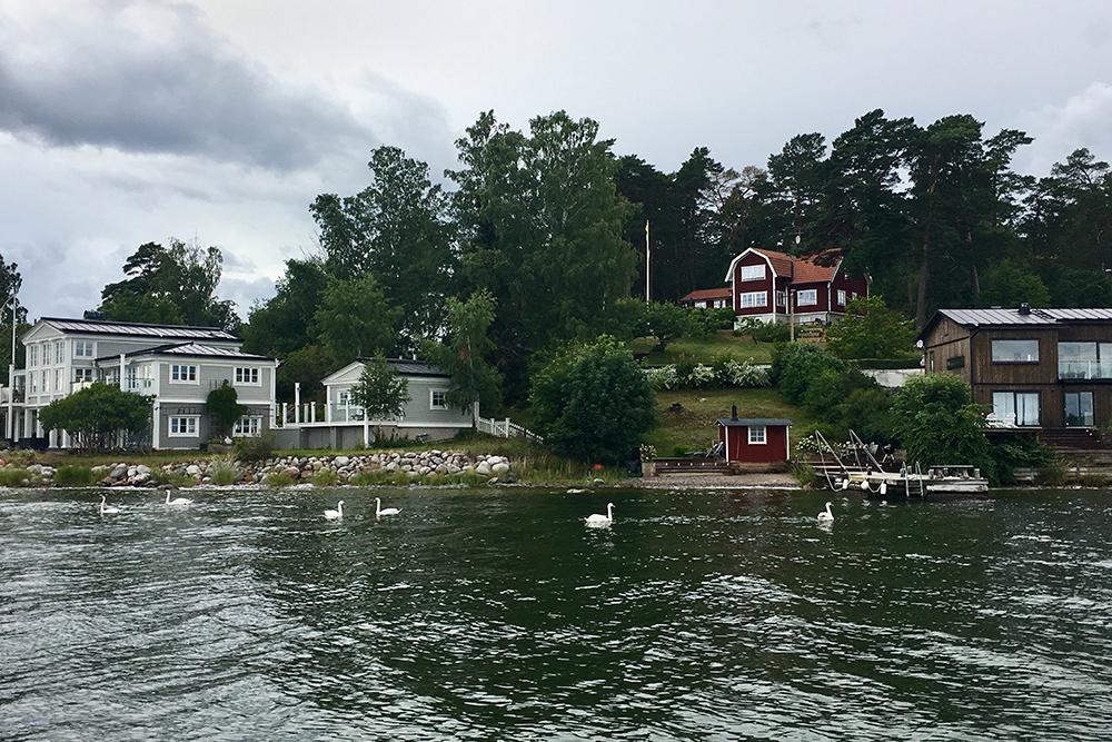 В окрестностях Стокгольма — аккуратные домики и открыточные виды