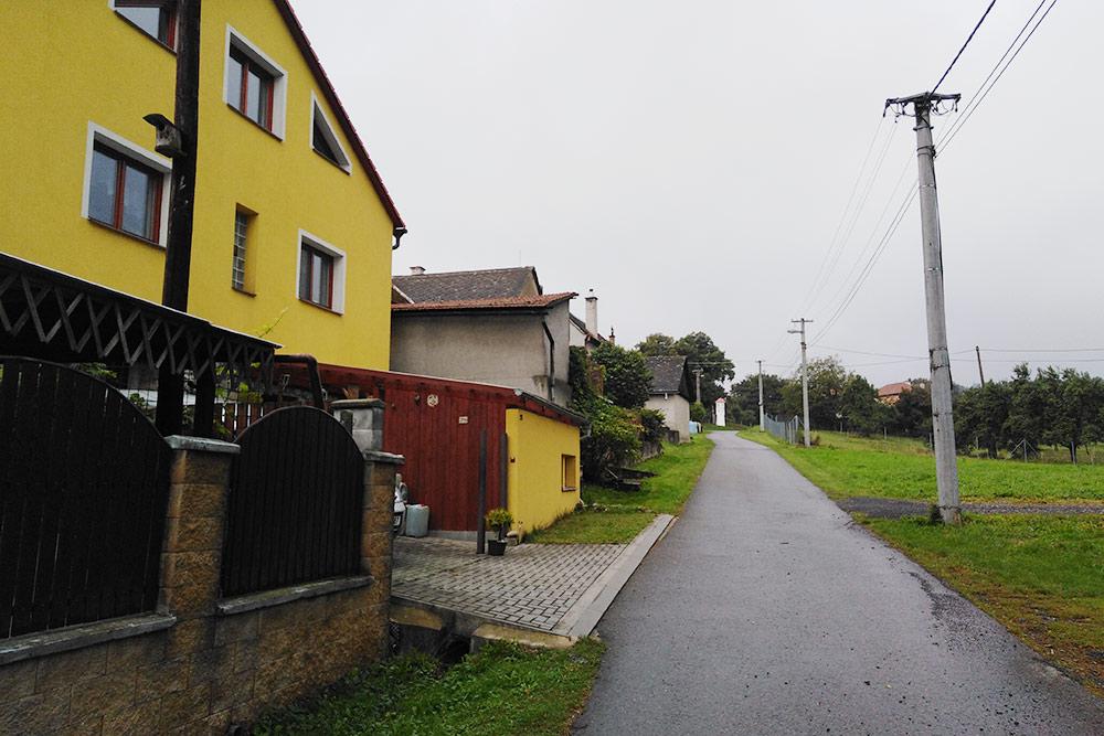 Дома в деревне Поломи