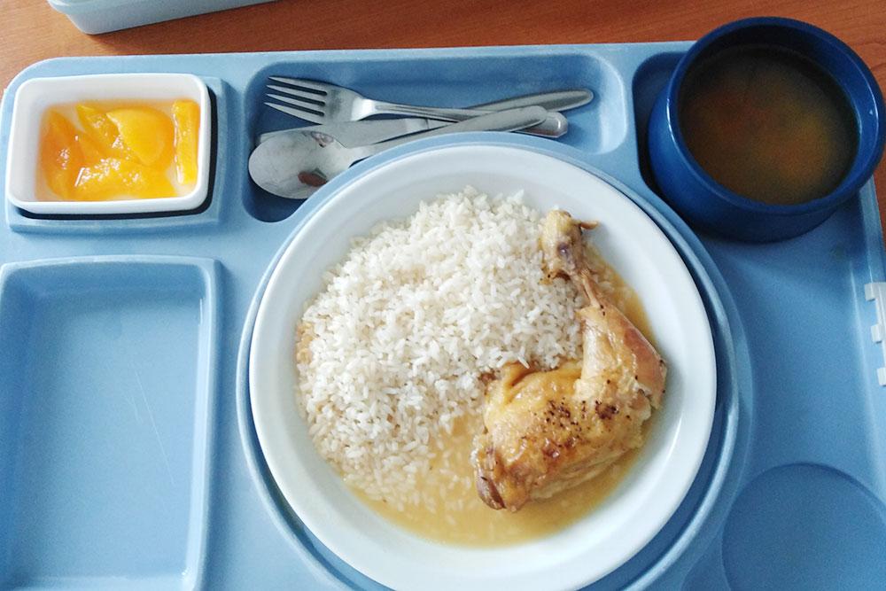 Мой обед в роддоме. Питание назначает врач, он может прописать диету