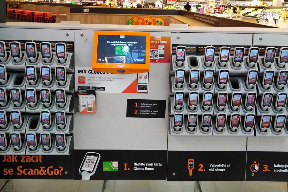 Ручные сканеры длясамостоятельной покупки очень экономят время: всегда можно заранее узнать, сколько платить накассе