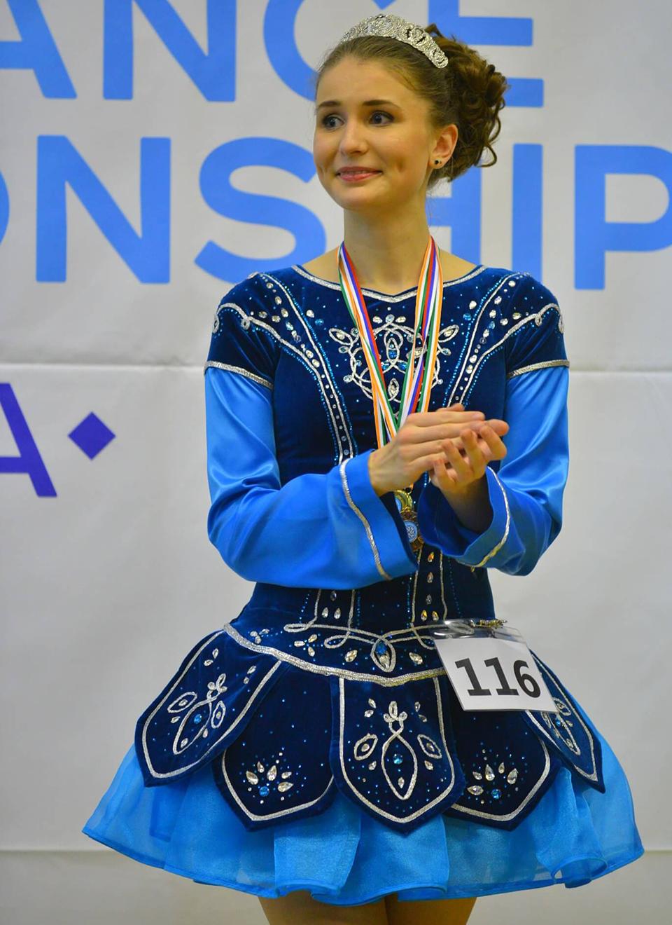На соревнованиях по ирландским танцам в Томске