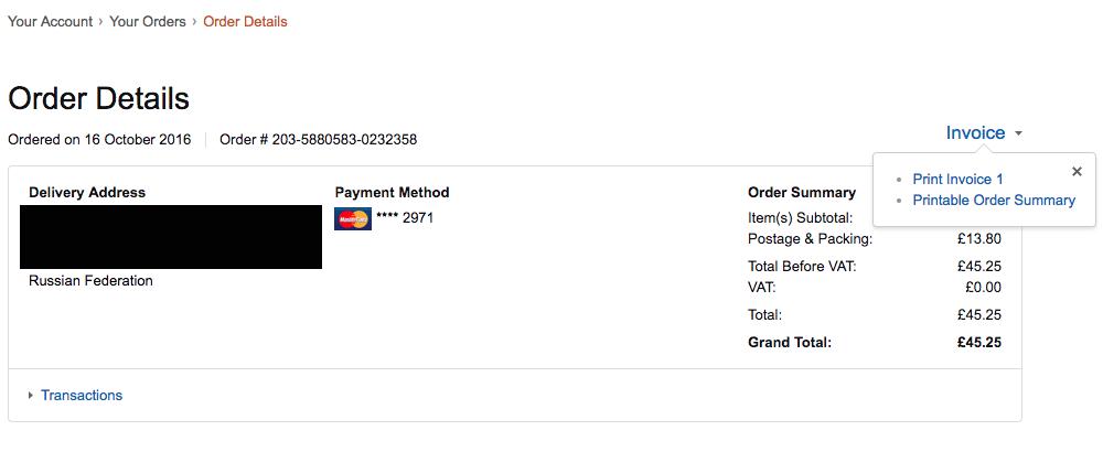 Число Пи Detail: Amazon: как покупать с доставкой в Россию