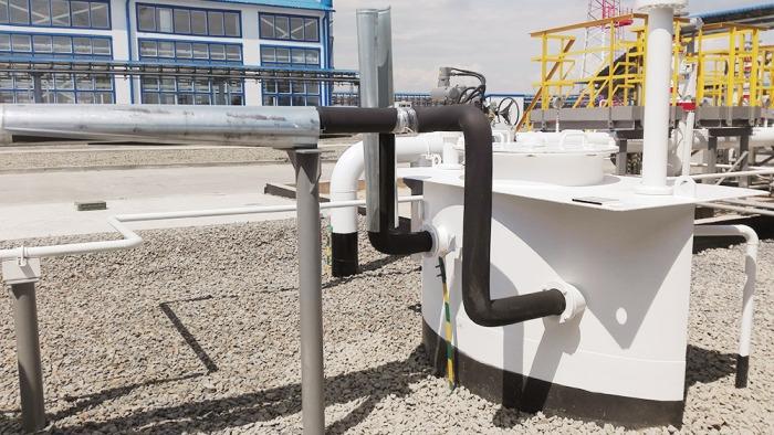 Пусковой комплекс станции смешения нефти в Самарской области. Станцию строили 10 месяцев. Закупили материалов на 24 млн рублей