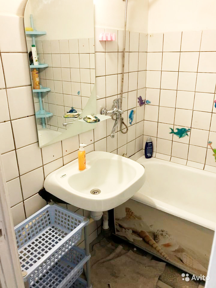 Несмотря на приятные спальню и кухню, эта квартира нам не подошла из-за плохого состояния санузла