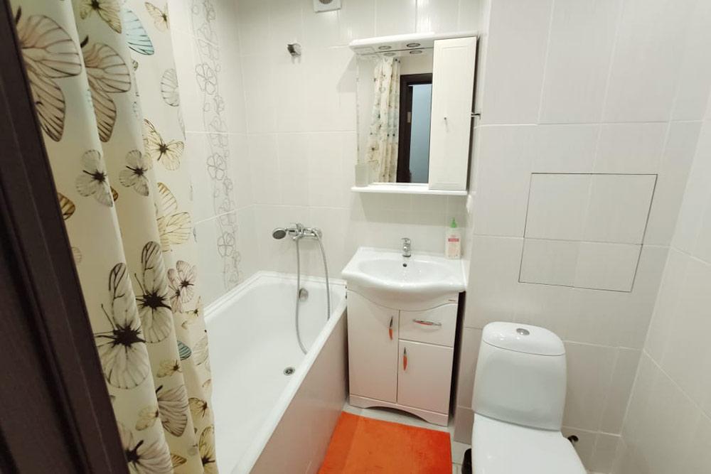 Ванная в арендованной нами квартире