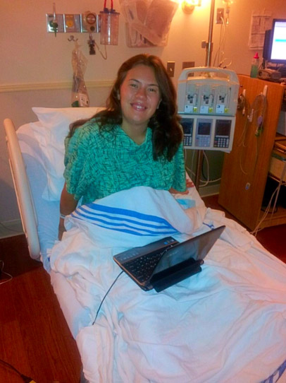Я в палате госпиталя