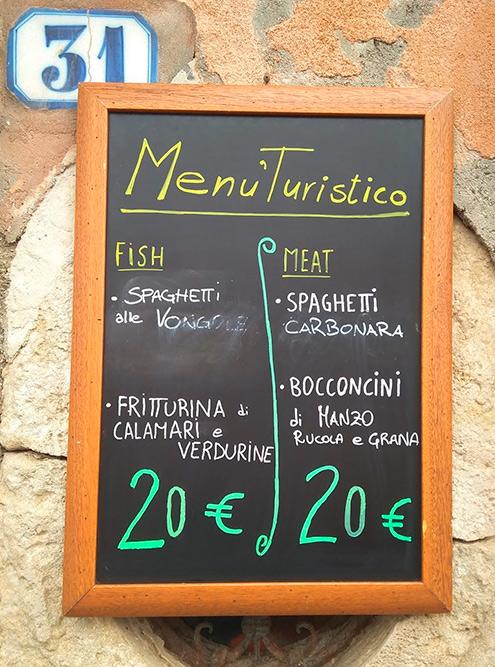 «Туристическое меню» на острове Мурано: спагетти с моллюсками или карбонара плюс жареные кальмары или говядина без гарнира за 20€
