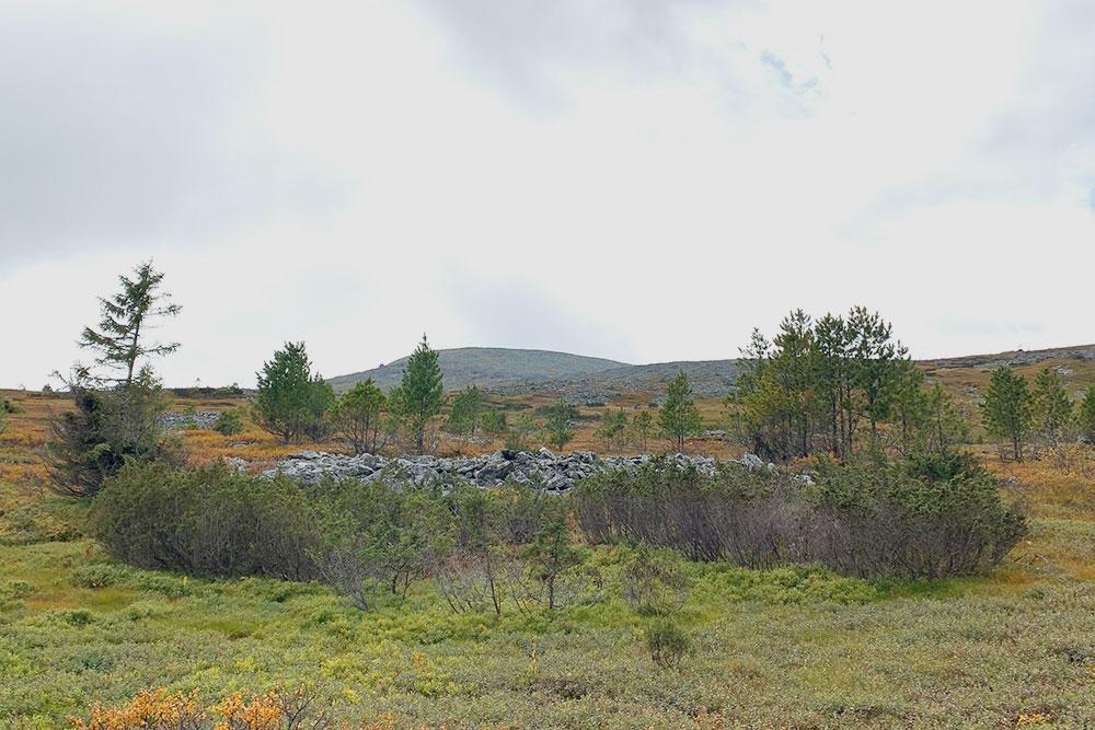 Вид на горы недалеко от нашего лагеря