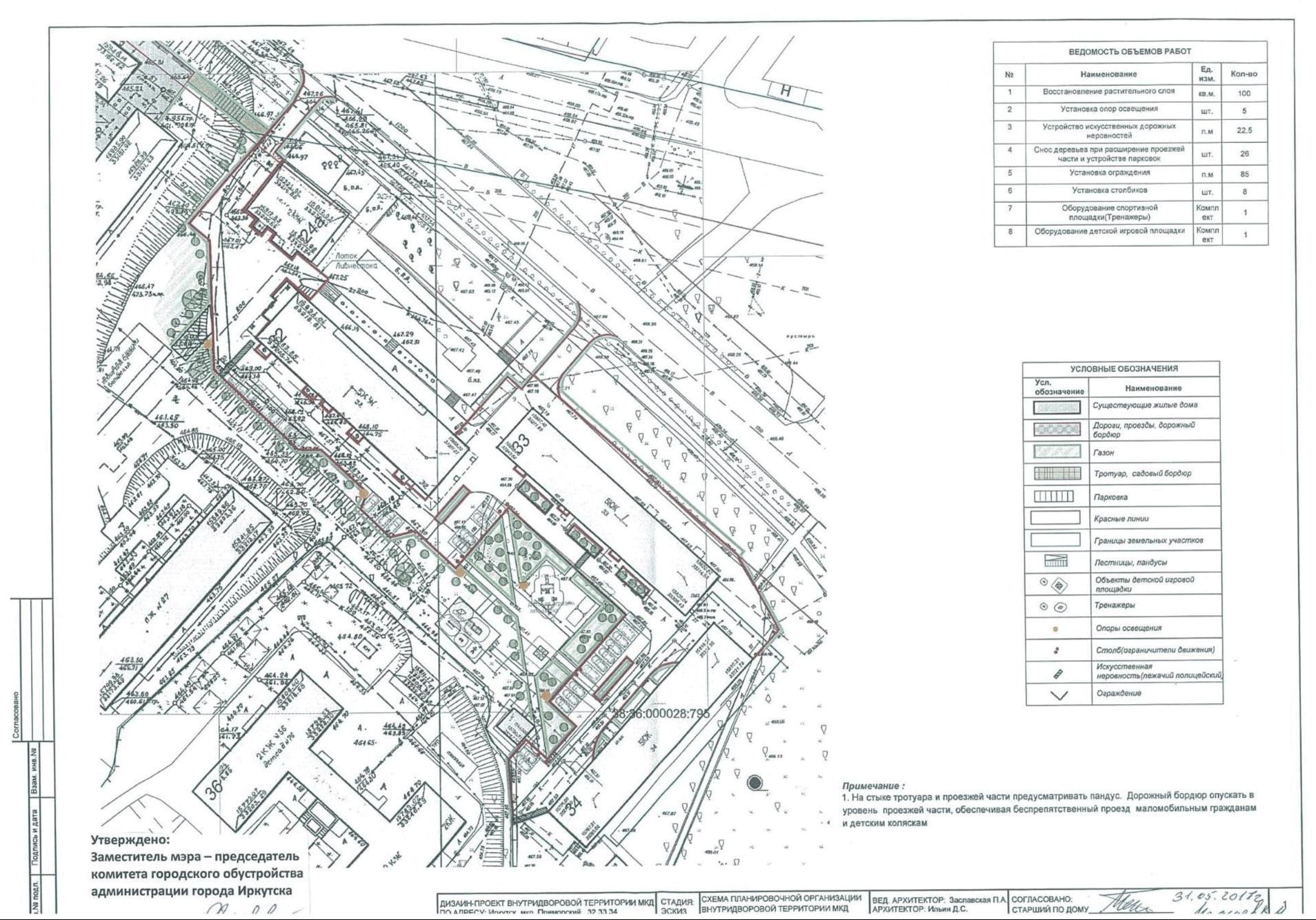 Дизайн-проект двора, подготовленный администрацией