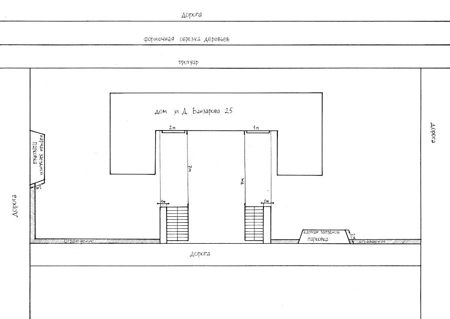 Пример схемы двора, которую жители приложили к заявке в администрацию