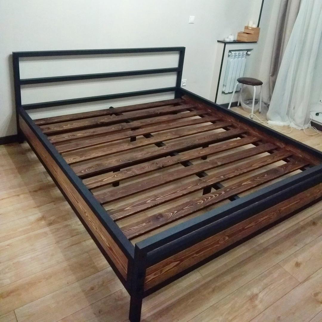 Кровать, массив + сталь 40 мм. Стоила 26 700<span class=ruble>Р</span>