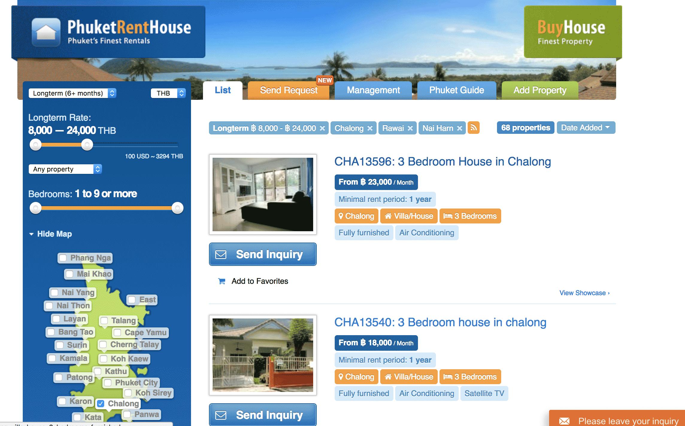 Жилье можно искать на Phuketrenthouse.com
