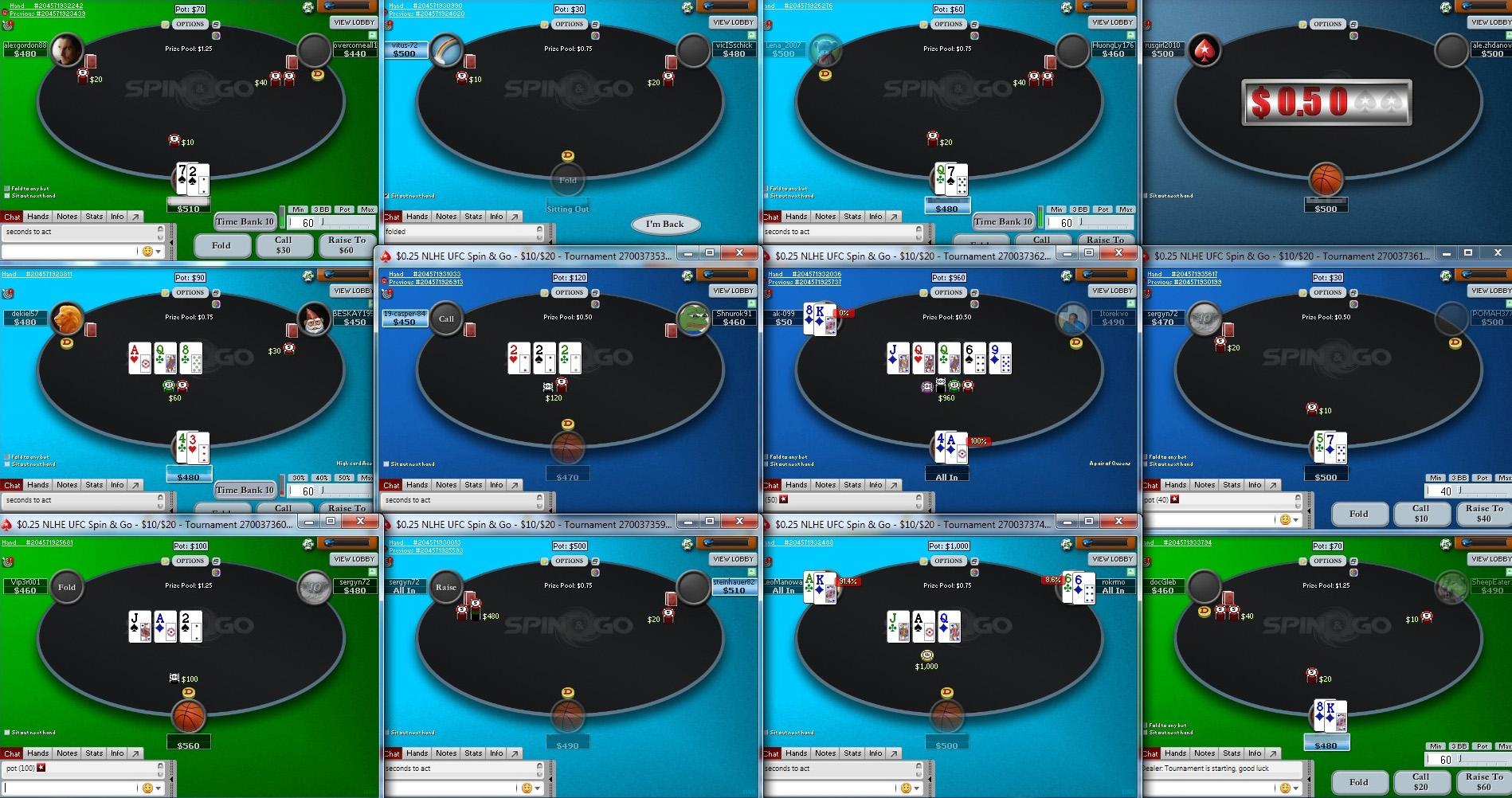 Некоторые игроки умудряются следить за игрой одновременно на 12 столах. Мой максимум — шесть