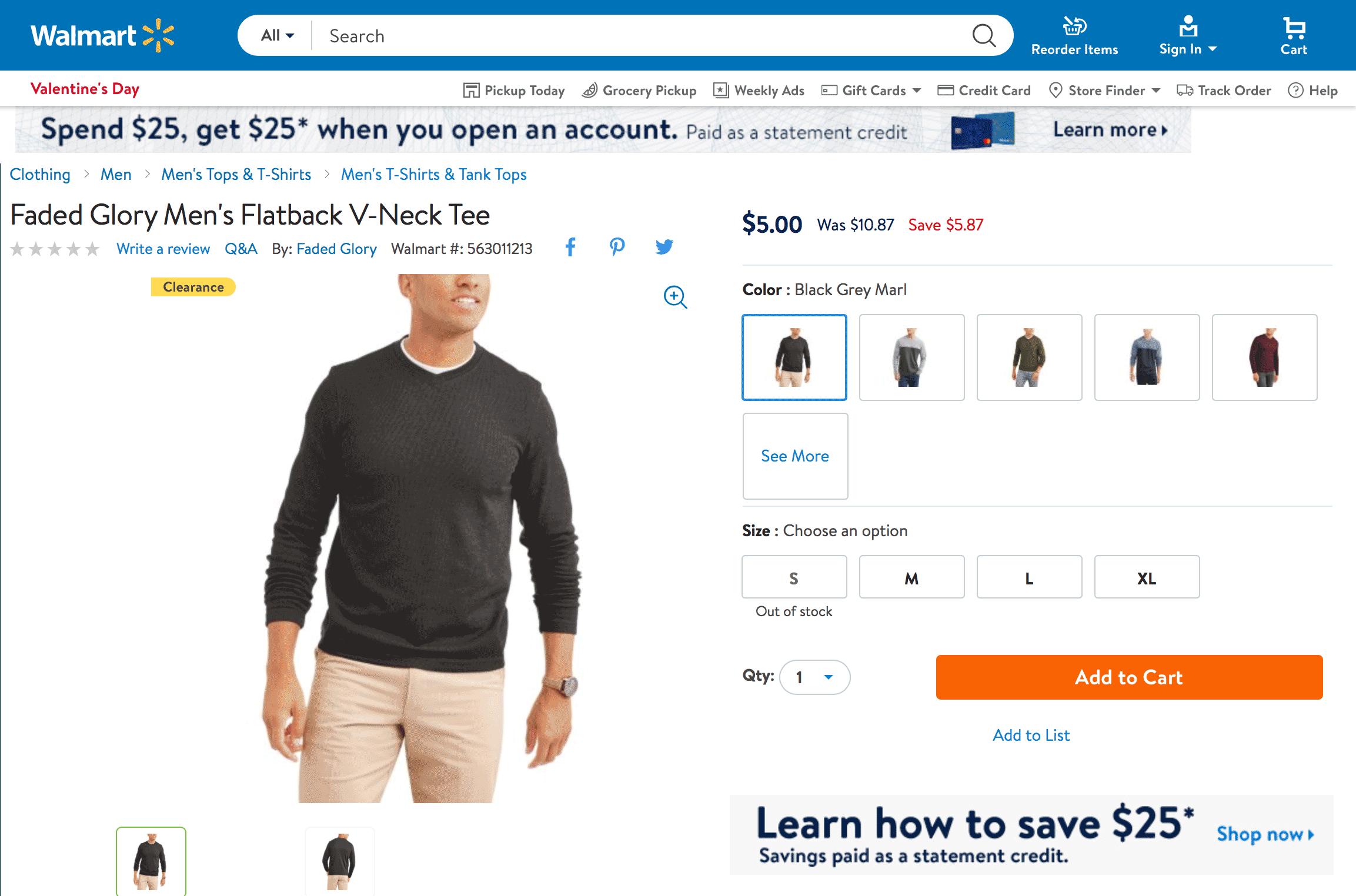 В «Волмарте» можно купить мужские джемперы за 5$