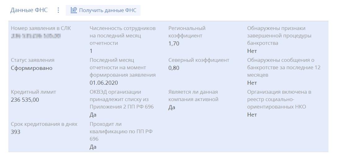 Сотрудник МСП-банка показал мне данные из ФНС, на основании которых одобряют кредит