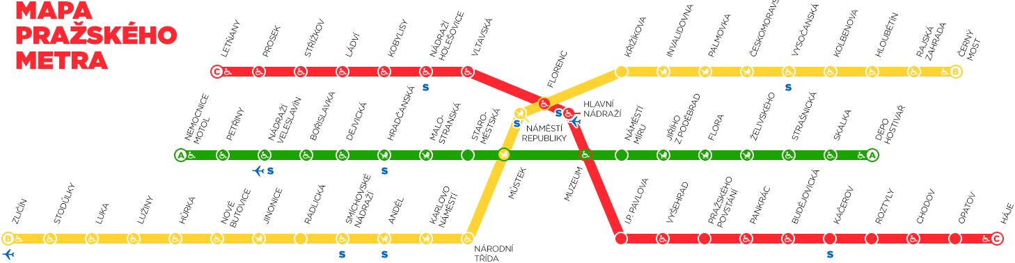 Схема пражской подземки