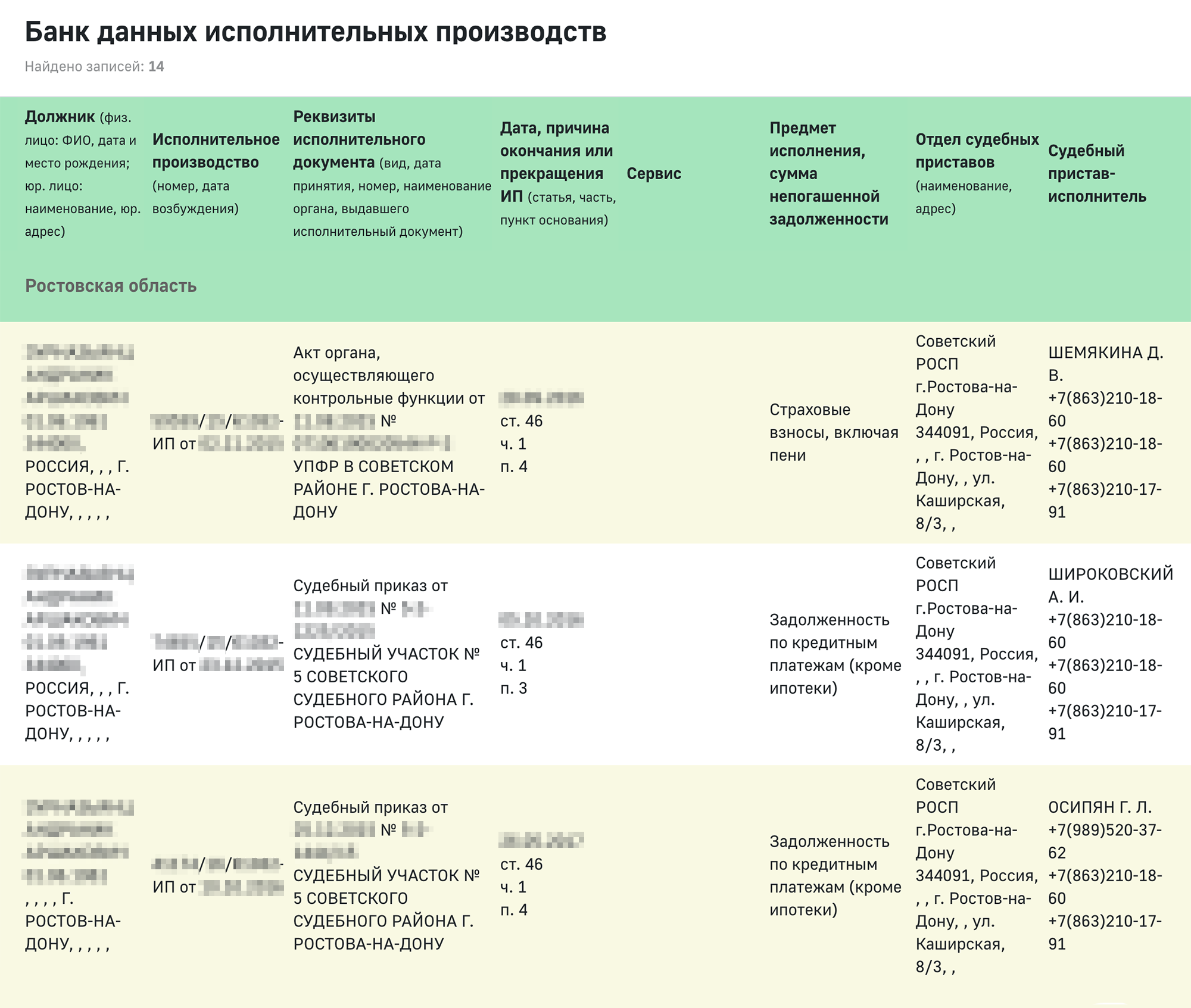 На сайте ФССП России есть информация о должниках. Это герой одной из изумительных историй&nbsp;<span class=nobr