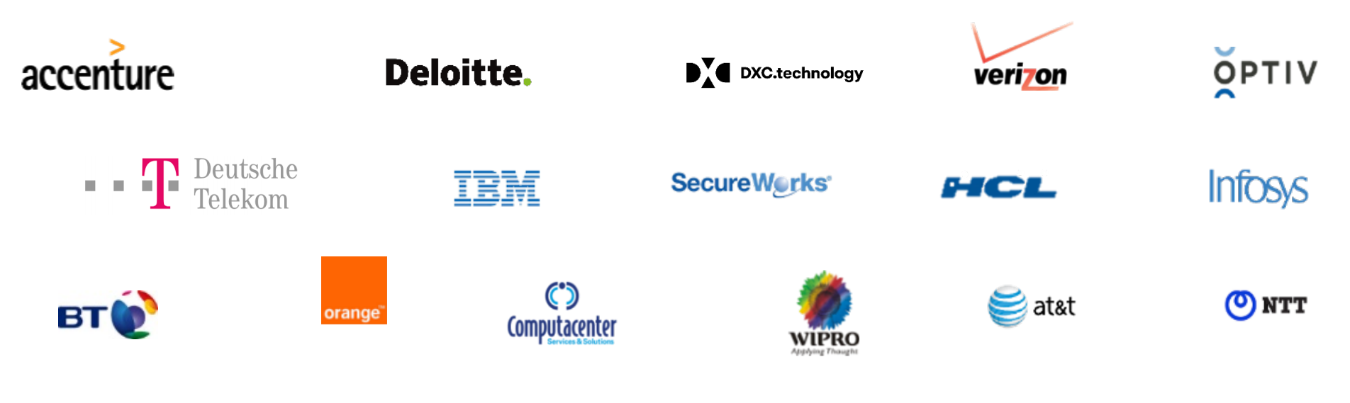 Логотипы компаний-посредников, через которые Qualys продает свои услуги. Источник: презентация компании, слайд 7