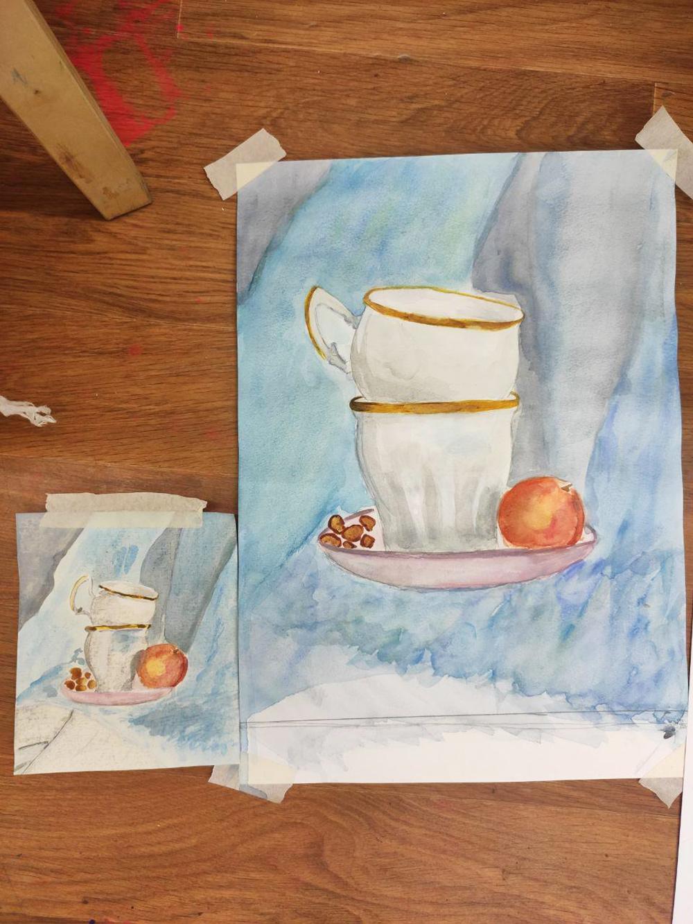 Про художественную школу отдельно писать не стала, просто прикладываю фотографии для отчета