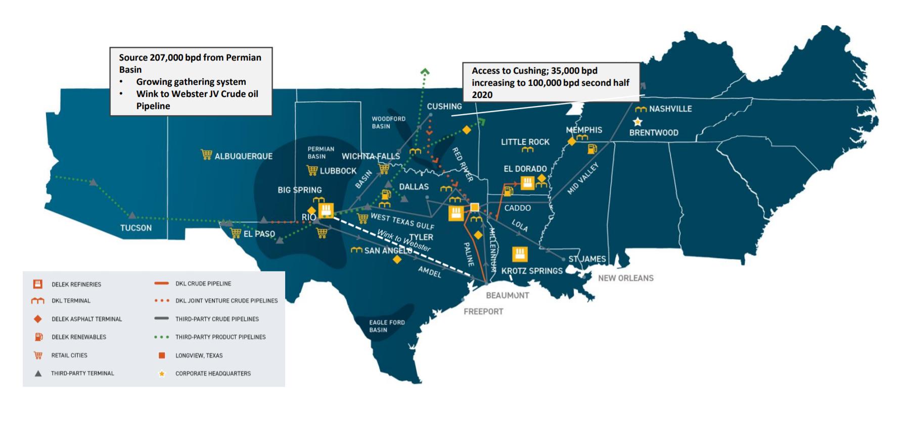 Карта активов компании. Источник: презентация компании, слайд4