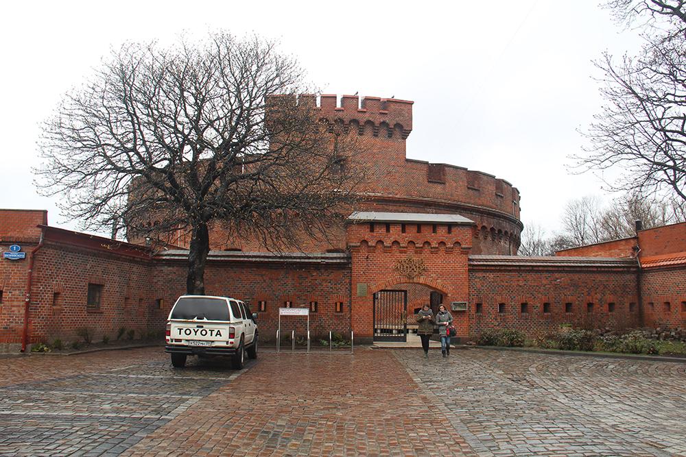 Музей янтаря расположен в крепостной башне середины 19 века