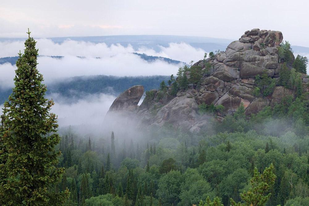 В парке более 100 крупных скал, высота самых больших достигает 90метров