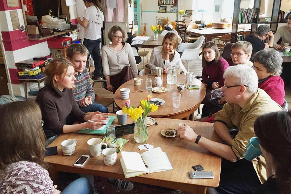 Встреча с авторами, которые тогда писали для сайта
