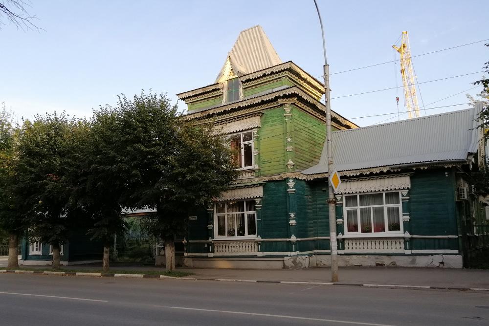 Дом Родзевича считается одним изсамых красивых рязанских деревянных жилых домов врусском стиле