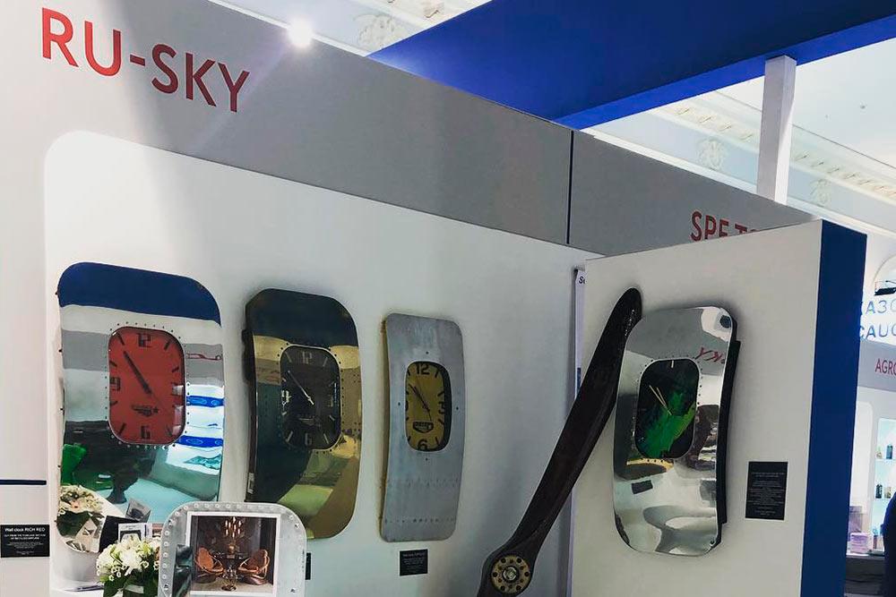 Стенд Ru-Sky намебельной выставке Arabia-Expo 2019. Наней впервые показали копию винтов
