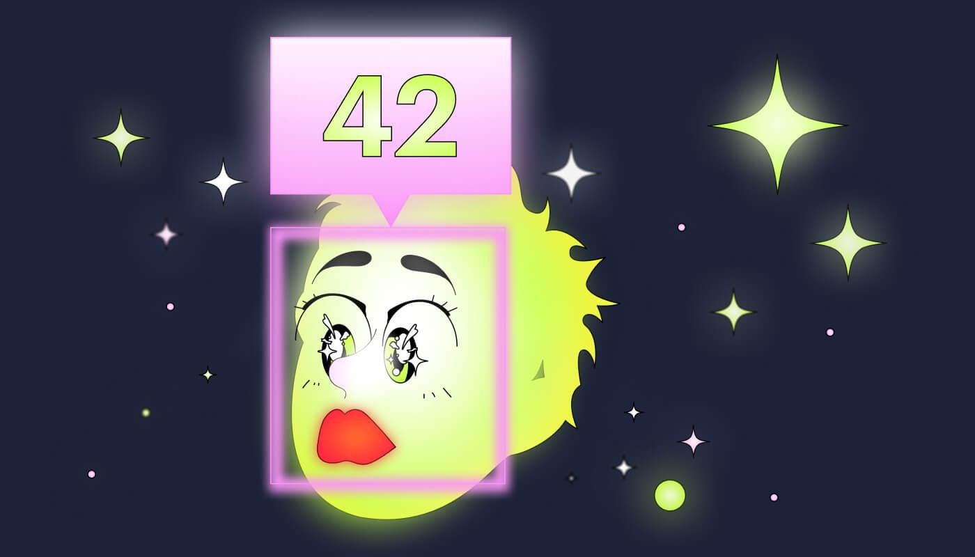 Буду искренне рада, если и вам выпадет число 42 — ответ на главный вопрос жизни, Вселенной и всего такого