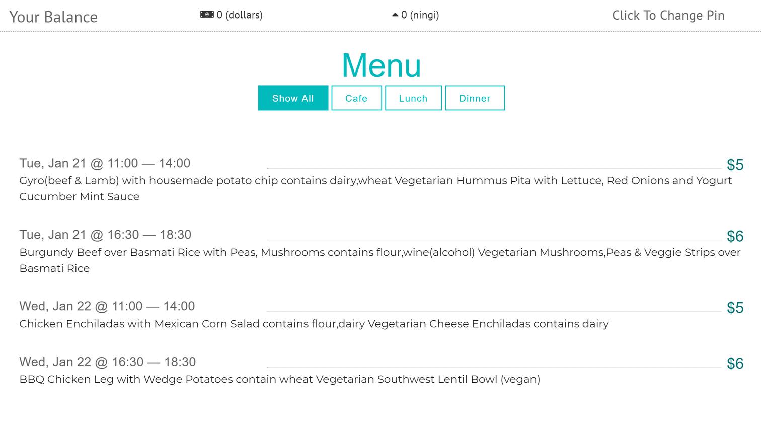 Можно сэкономить на еде, если питаться в столовой общежития. Обед стоит 5$ (373<span class=ruble>Р</span>), ужин — 6$ (447<span class=ruble>Р</span>). Меню выкладывают на сайте школы