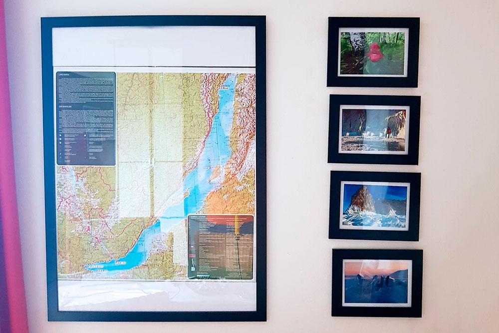 У хоста в Австрии я обнаружила на стене карту и фото Байкала. Оказалось, он пару лет работал в Иркутске фотографом