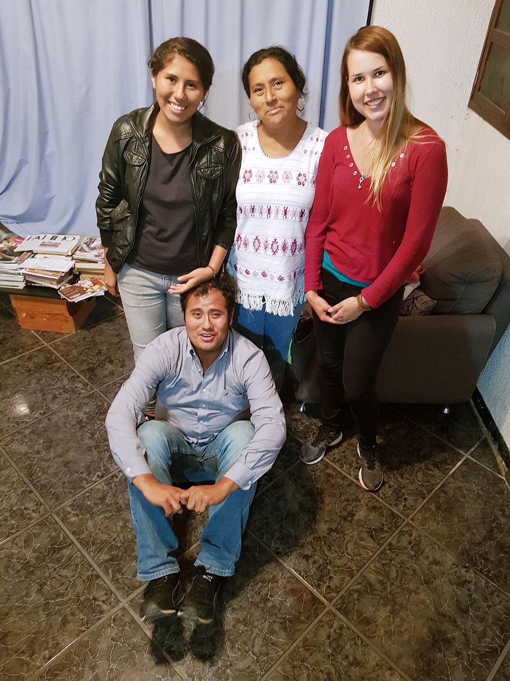 Семья, у которой я останавливалсь по каучсерфингу в городе Оахака в Мексике