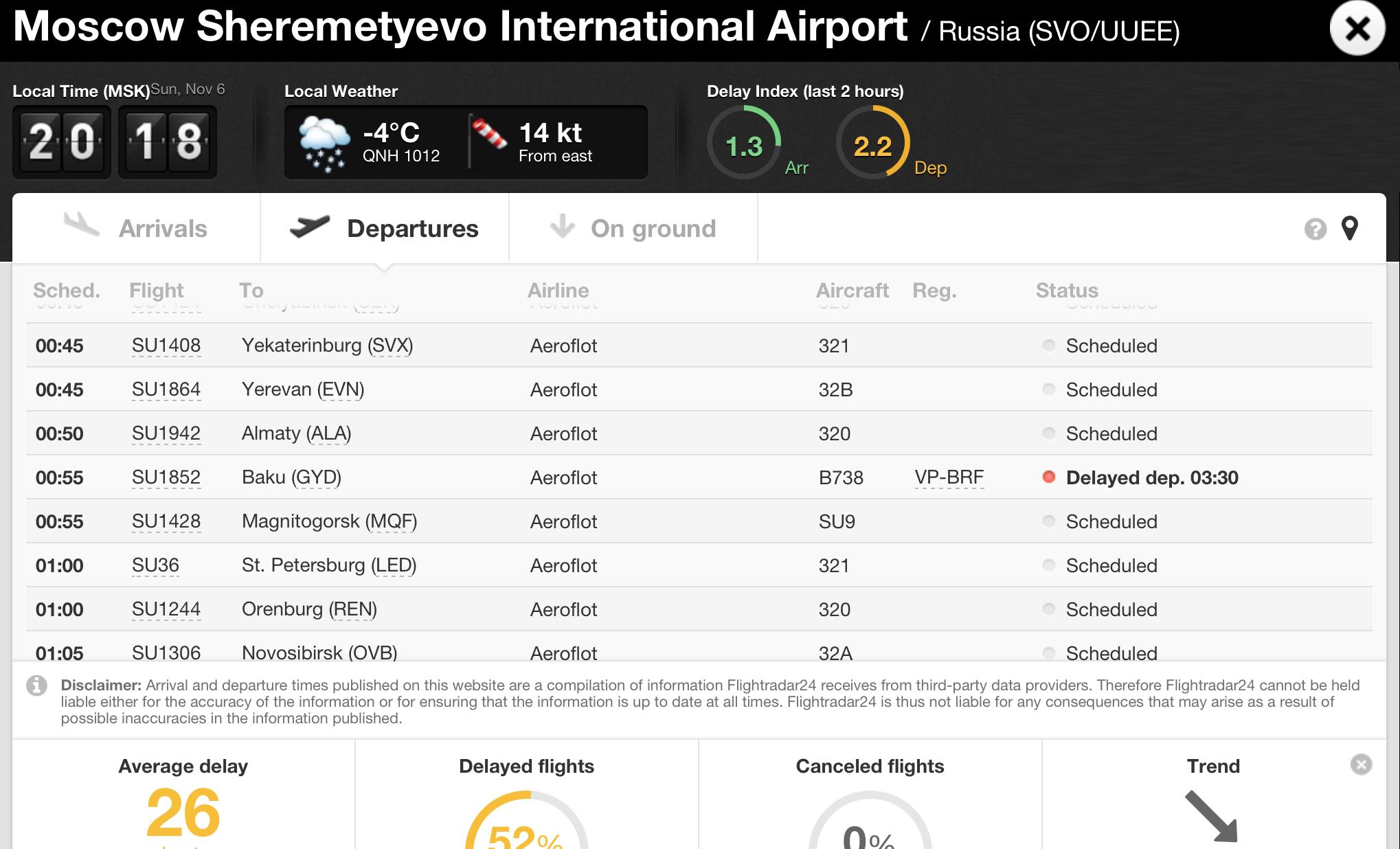 Рейс из Москвы в Баку задержали на 2,5 часа. Эти два часа будет приятнее провести дома